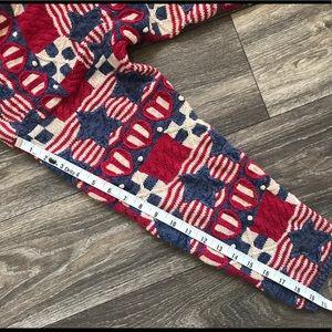 Talbots Sweaters - Talbots Knit American Sweater Flag Stars XL